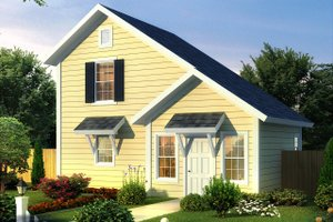 Cottage Exterior - Front Elevation Plan #513-2180