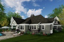 Dream House Plan - Craftsman Exterior - Rear Elevation Plan #51-573