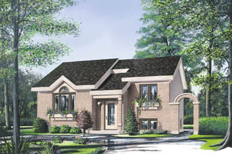 Modern Style House Plan - 2 Beds 1 Baths 1070 Sq/Ft Plan #23-1015 Exterior - Front Elevation