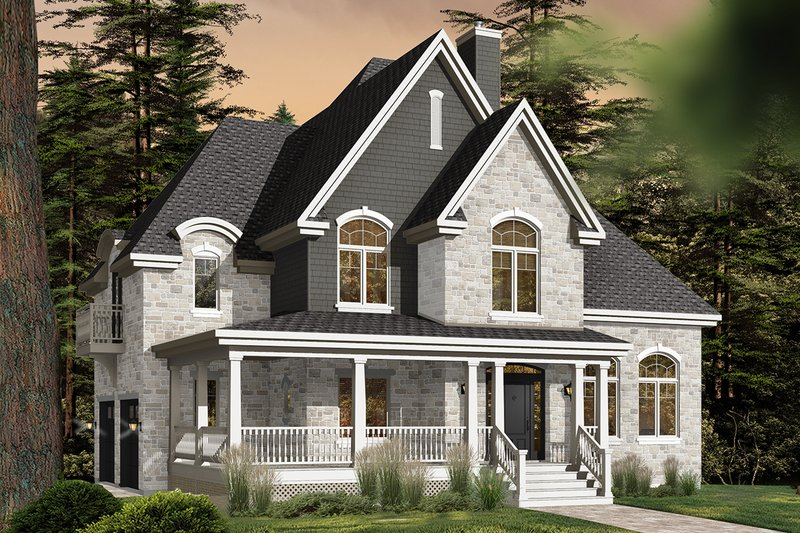 House Plan Design - European Exterior - Front Elevation Plan #23-583