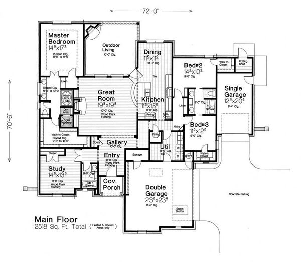 European Floor Plan - Main Floor Plan Plan #310-1284