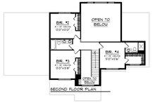 Craftsman Floor Plan - Upper Floor Plan Plan #70-1249