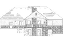 Home Plan - Traditional Exterior - Rear Elevation Plan #5-246