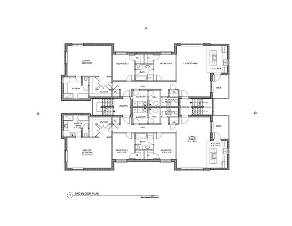 Modern Floor Plan - Upper Floor Plan Plan #535-12