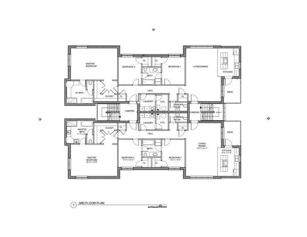 Modern Floor Plan - Upper Floor Plan #535-12