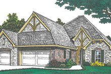 House Plan Design - European Exterior - Front Elevation Plan #310-1265