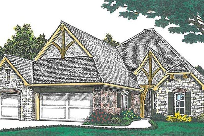 Dream House Plan - European Exterior - Front Elevation Plan #310-1265