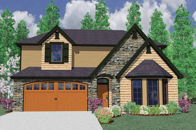 Country Exterior - Front Elevation Plan #509-303