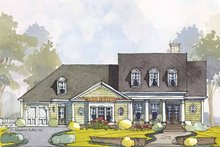 Colonial Exterior - Front Elevation Plan #429-442