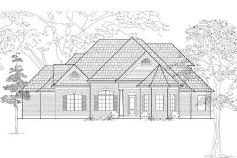 Traditional Exterior - Front Elevation Plan #61-112 - Houseplans.com