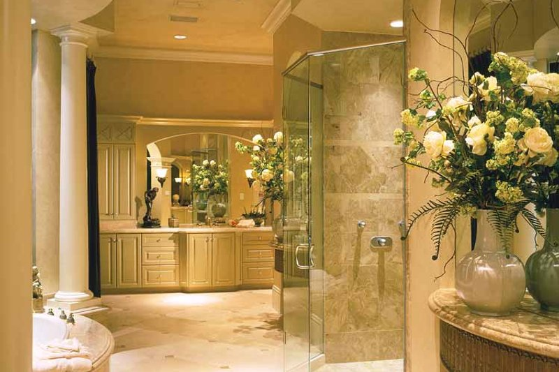 Mediterranean Interior - Bathroom Plan #930-319 - Houseplans.com