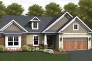 Ranch Style House Plan - 2 Beds 2 Baths 1808 Sq/Ft Plan #1010-102 Exterior - Front Elevation