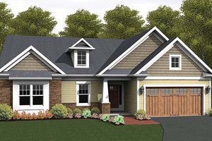 Architectural House Design - Ranch Exterior - Front Elevation Plan #1010-102