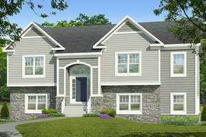 Split Level House Plans at eplans.com | House Design Plans on 2 bedroom cottage house plans, 2 bedroom log house plans, 2 bedroom colonial house plans, 2 bedroom a frame house plans,