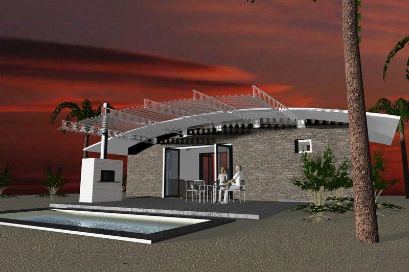 Dream House Plan - Modern Exterior - Rear Elevation Plan #535-7