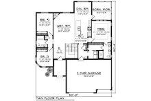 Ranch Floor Plan - Main Floor Plan Plan #70-1240