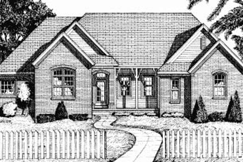 Traditional Exterior - Front Elevation Plan #20-604 - Houseplans.com