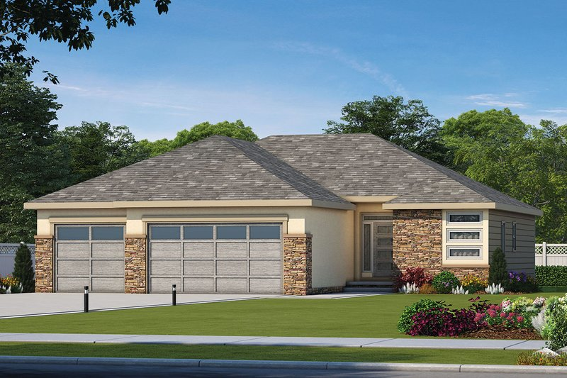 Architectural House Design - Ranch Exterior - Front Elevation Plan #20-2322