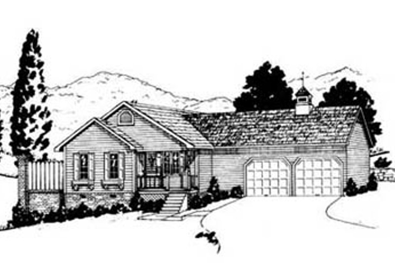 Architectural House Design - Traditional Exterior - Front Elevation Plan #36-105