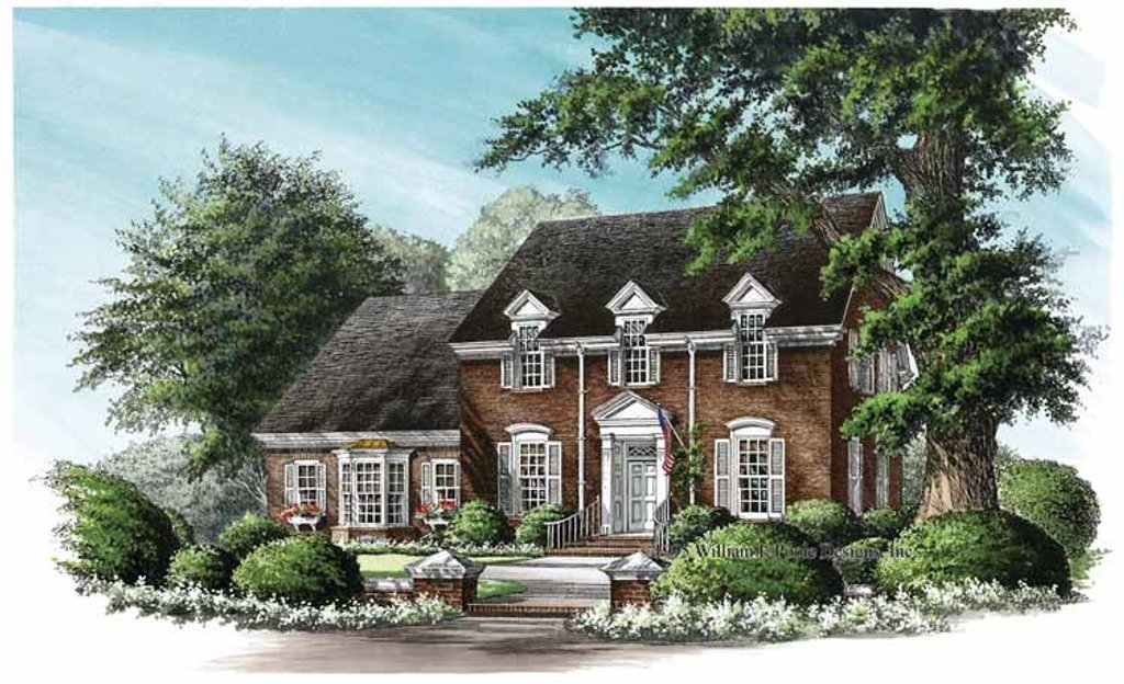 Classical Exterior Front Elevation Plan 137 325
