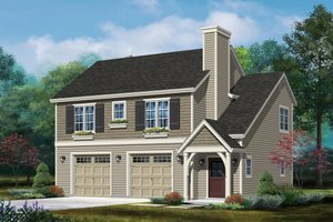Country Exterior - Front Elevation Plan #22-610
