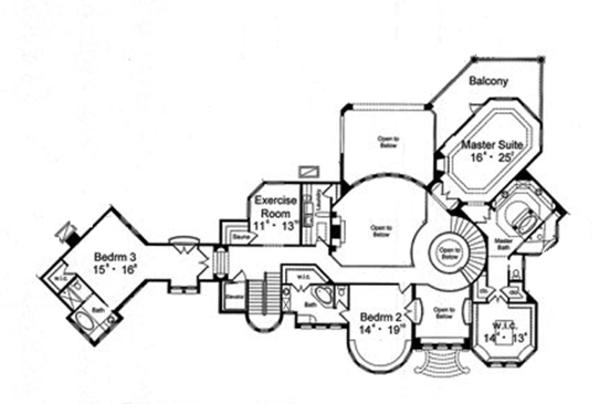 European Floor Plan - Upper Floor Plan Plan #417-798