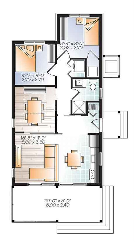 Contemporary Floor Plan - Main Floor Plan Plan #23-2603