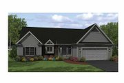 Ranch Style House Plan - 2 Beds 2 Baths 1588 Sq/Ft Plan #1010-4 Exterior - Front Elevation