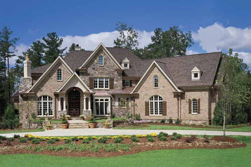 European Exterior - Front Elevation Plan #54-181 - Houseplans.com