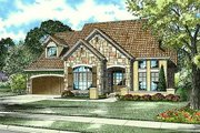 European Style House Plan - 3 Beds 2.5 Baths 2721 Sq/Ft Plan #17-204 Exterior - Front Elevation