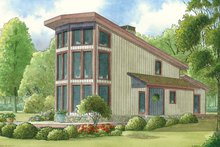 Dream House Plan - Contemporary Exterior - Front Elevation Plan #17-3377