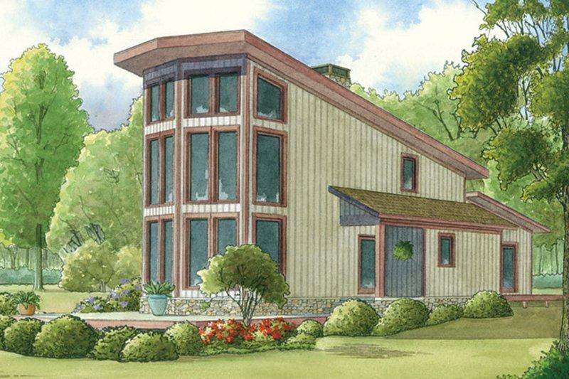 House Plan Design - Contemporary Exterior - Front Elevation Plan #17-3377