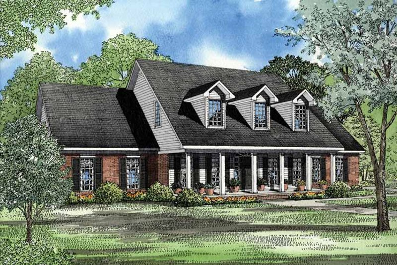 Country Exterior - Front Elevation Plan #17-2942