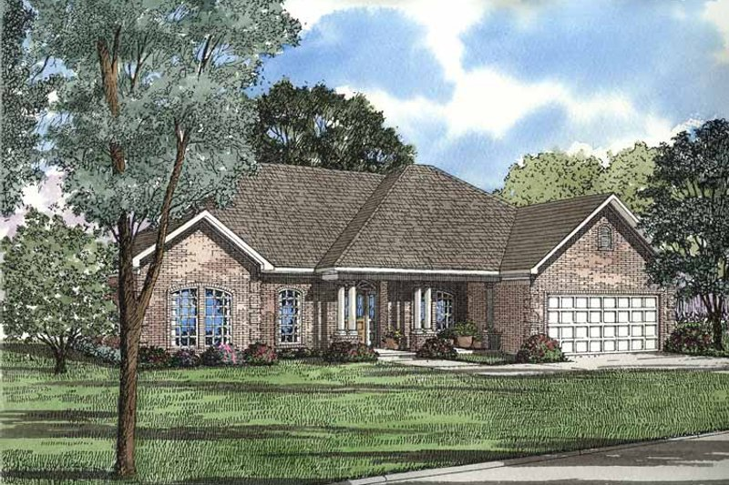 House Plan Design - European Exterior - Front Elevation Plan #17-3158