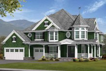 Victorian Exterior - Front Elevation Plan #132-476