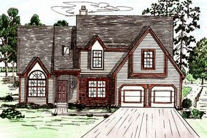 Traditional Exterior - Front Elevation Plan #405-123