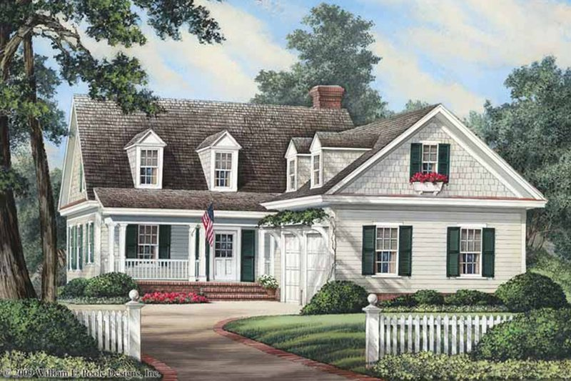 Traditional Style House Plan - 3 Beds 2.5 Baths 1866 Sq/Ft Plan #137-263 Exterior - Front Elevation