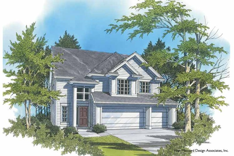 Traditional Exterior - Front Elevation Plan #48-826 - Houseplans.com