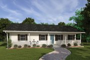 Ranch Style House Plan - 3 Beds 2 Baths 1285 Sq/Ft Plan #57-160