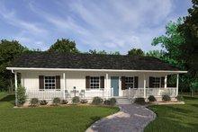 House Plan Design - Ranch Exterior - Front Elevation Plan #57-160