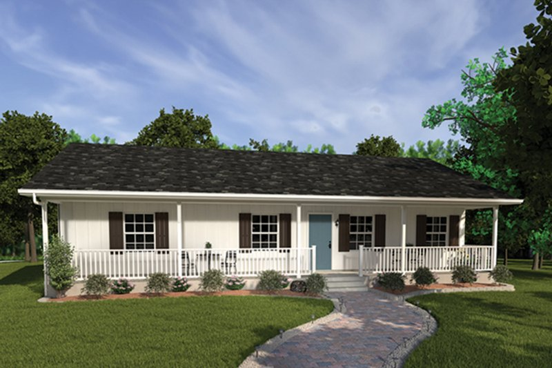 Dream House Plan - Ranch Exterior - Front Elevation Plan #57-160