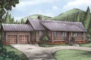 Log Style House Plan - 3 Beds 4 Baths 2688 Sq/Ft Plan #115-160 Exterior - Front Elevation