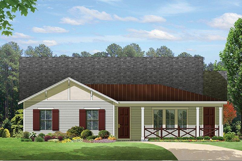 Ranch Exterior - Front Elevation Plan #1058-98 - Houseplans.com