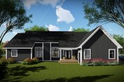Craftsman Style House Plan - 3 Beds 2 Baths 1958 Sq/Ft Plan #70-1493 Exterior - Rear Elevation