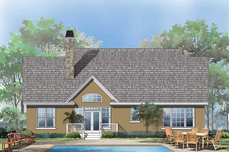Craftsman Exterior - Rear Elevation Plan #929-428 - Houseplans.com