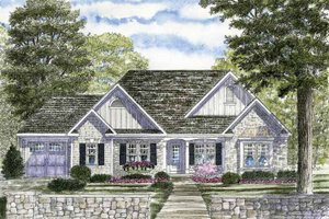 Ranch Exterior - Front Elevation Plan #316-249