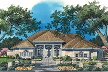 Classical Exterior - Front Elevation Plan #930-52