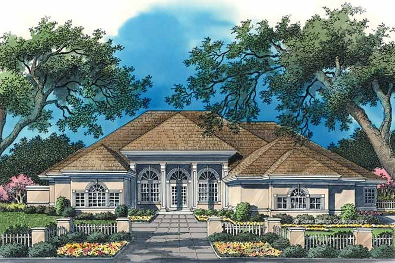 Classical Style House Plan - 3 Beds 3.5 Baths 2978 Sq/Ft Plan #930-52 Exterior - Front Elevation
