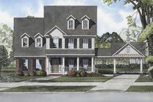 Home Plan - Colonial Exterior - Front Elevation Plan #17-2874