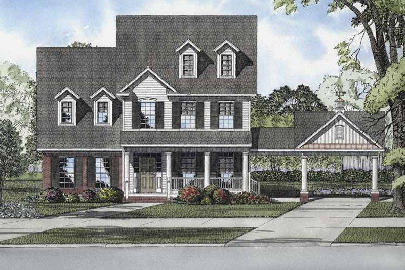 Colonial Exterior - Front Elevation Plan #17-2874 - Houseplans.com